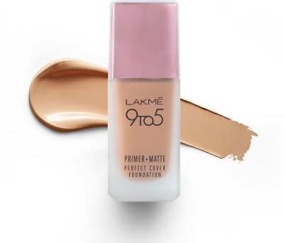 Lakme 9To5 Primer + Matte Perfect Cover  Foundation  (W240 Warm Beige, 25 ml)