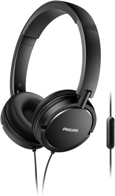 Philips SHL5005/00 Wired Headset(Black, Wired over the head)