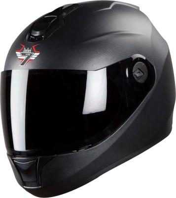 Steelbird SBH-11 7Wings Dashing Full Face Helmet Black Motorbike Helmet(Black)