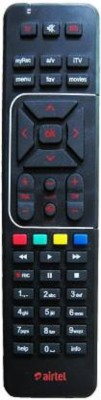 Airtel Airtel Universal Remote Digital TV Universal Remote with Battery (Multi) Remote Controller(Black)