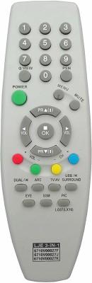 LipiWorld 6710V00027J 6710V00027K Universal Compatible for  CRT TV LG Remote Controller(Gray)
