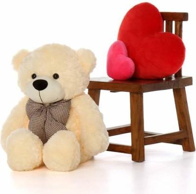 BestLook 3 feet cream teddy bear st abee - 90 cm (Cream)  - 90 cm(Cream)