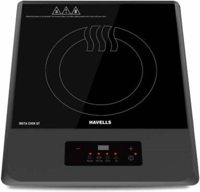 Havells QT GREY Induction Cooktop(Black, Push Button)