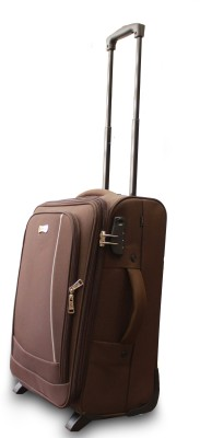 Emblem Suitcase brown Trolley Expandable Cabin   Check in Luggage   22 inch