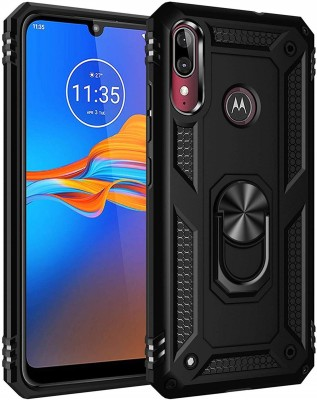 Cover Alive Back Cover for Motorola e6s(Black, Shock Proof)