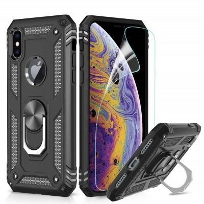 Rosaline Back Cover for Apple iPhone X(Black, Shock Proof)