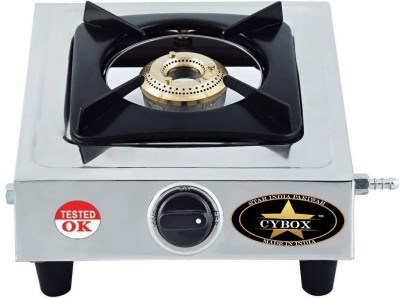 CYBOX Heavy Quality Stainless Steel Stainless Steel, Brass Manual Gas Stove(1 Burners)