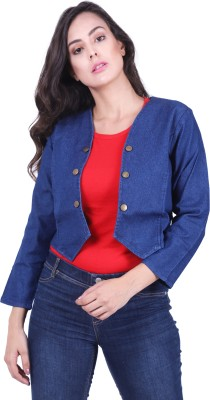 YASMIN CREATIONS Full Sleeve Solid Women Denim Jacket