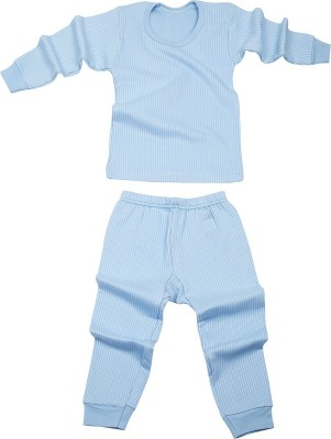 Miss & Chief Top - Pyjama Set For Boys & Girls(Blue, Pack of 2)