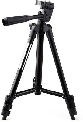 LIFEMUSIC Universal Camera Tripod Digital and Lightweight Camera Camcorder Portable Tripod Stand Aluminum for DSLR /Action Camera /Mobile /Smartphones /Digital 3 Way Pan & Tilt Camera - 3120 Tripod(Black, Supports Up to 1500 g) 1