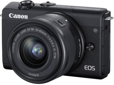 Canon EOS M200 Mirrorless Camera Body with Single Lens (EF-M15-45mm f/3.5-6.3 IS STM)(Black)