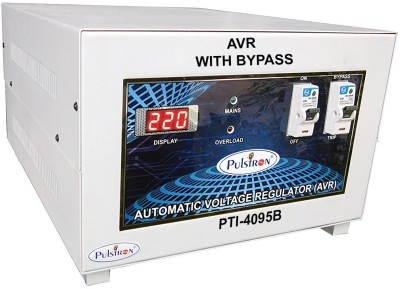 PULSTRON PTI 4095B 4 KVA  90V 290V  Single Phase With Bypass Automatic Mainline Voltage Stabilizer Grey