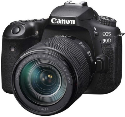 Canon EOS 90D DSLR Camera Body with Single Lens 18 - 135 mm IS USM(Black)