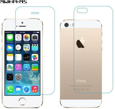 SHAKU Front and Back Tempered Glass for Apple iPhone 5s(Pack of 2)
