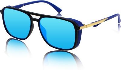 fashion sunglasses Over-sized Sunglasses(Blue)