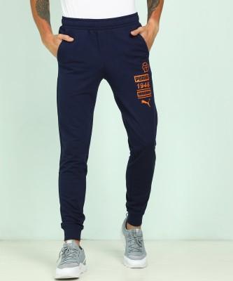 Puma Printed Men Blue Track Pants