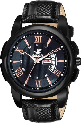 Espoir DHRDN0507 Black Day and Date Functioning High Quality Analog Watch  - For Men