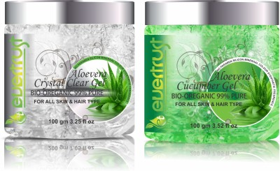 Evertrust 99% Pure Aloevera with Cucumber Extracts & Crystal Aloevera Gel(200 g)