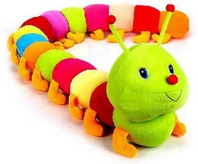 Lata Cute Soft Adorable Caterpillar 100cm   100 cm Multicolor Lata Soft Toys