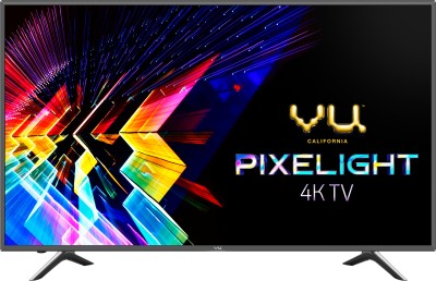 Vu Pixelight 138cm (55 inch) Ultra HD (4K) LED Smart TV  with Cricket Mode(55-QDV)