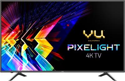 Vu Pixelight 126cm (50 inch) Ultra HD (4K) LED Smart TV  with cricket mode(50-QDV)
