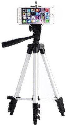 Zeom ™ 3110A Metal Extendable Tripod Stand Monopod For Canon Camera Camcorder Tripod(Silver, Black, Supports Up to 1500 g) Tripod(Black, Silver, Supports Up to 1500 g) 1