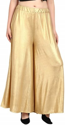 SriSaras Flared Women Gold Trousers