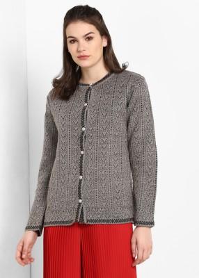 MODEVE Graphic Print Round Neck Casual Women Beige Sweater