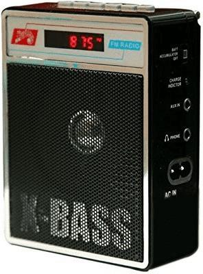CRETO BT 485 Portable Wireless Mobile/Tablet Bluetooth Speaker FM Radio Black CRETO FM Radio