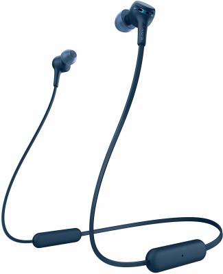 Sony WI-XB400 Extra Bass Wireless Stereo Headset Bluetooth Headset(Blue, Wireless in the ear)
