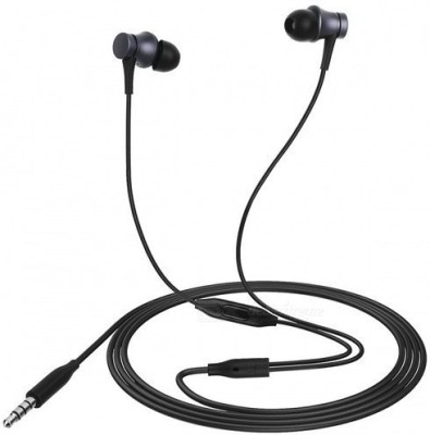 Mi Basic Wired Headset with Mic(Black, In the Ear)