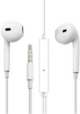Mak Web a83 for mo.toroal./nok_ia/r_ealme/honor Wired Headset with Mic(White, In the Ear)