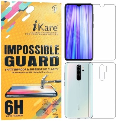 iKare Front and Back Screen Guard for Redmi Note 8 Pro(Pack of 2)