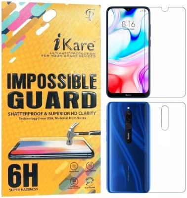 iKare Front and Back Screen Guard for Redmi 8(Pack of 2)