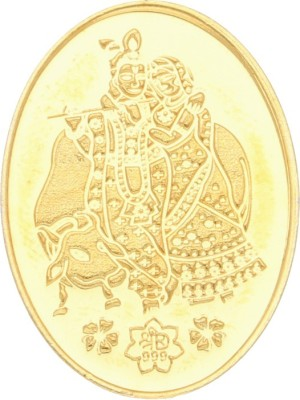 Sri Jagdamba Pearls 10 Grams 24Kt Radha Krishna Pure Gold Coin 24  9999  K 10 g Gold Coin Sri Jagdamba Pearls Coins   Bars