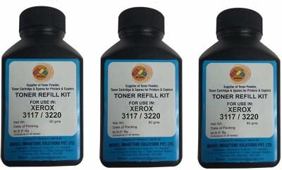 MOREL Toner Powder for use in Xerox 3117 / 3220 Printer Cartridge Pack of 3 Black Ink Toner MOREL Toners