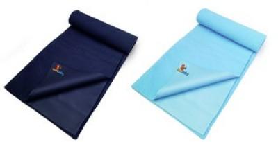 Sunbaby Rubber Baby Sleeping Mat(Navy Blue + Sky Blue, Large)