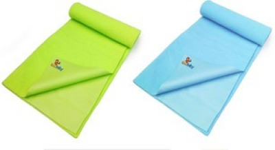 Sunbaby Rubber Baby Sleeping Mat(Pista Green + Sky Blue, Medium)