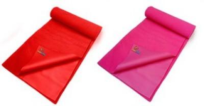 Sunbaby Rubber Baby Sleeping Mat(Red + Dark Pink, Small)