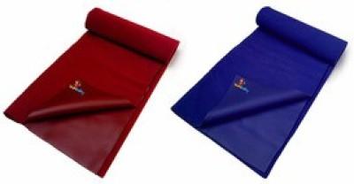 Sunbaby Rubber Baby Sleeping Mat(Royal Blue + Maroon, Small)