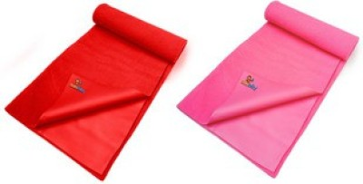 Sunbaby Rubber Baby Sleeping Mat(Red + Pink, Large)