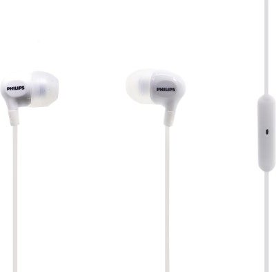 Philips SHE3555WT Wired Headset(White, In the Ear)