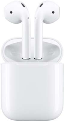 Apple AirPods with Charging Case Bluetooth Headset with Mic(White, True Wireless)