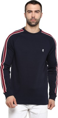 Red Tape Solid Men Round Neck Blue T-Shirt