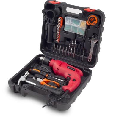 BUILDSKILL Pro BGSB13RE 13MM Impact Drill Kit with 130 pcs Accessories Power & Hand Tool Kit(130 Tools)