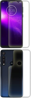 FashionCraft Front and Back Screen Guard for motorola one macro(Pack of 2)
