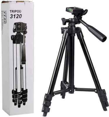 LIFEMUSIC Tripod Stand 360 Degree 3120 Portable Digital DSLR Camera Mobile Stand Holder Camcorde Tripod(Black, Supports Up to 1500 g) 1