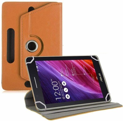 TGK Flip Cover for Asus Fonepad 7 Fe171cg Tablet 7 inch with Rotating leather Stand Case(Orange, Cases with Holder)