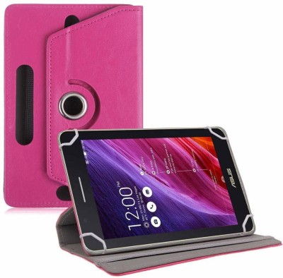 TGK Flip Cover for Asus Fonepad 7 Fe171cg Tablet 7 inch with Rotating leather Stand Case(Pink, Cases with Holder)