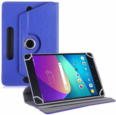 TGK Flip Cover for Asus Zenpad Z8s ZT582KL ASUS-P00J LTE Tablet 7.9 Tabletwith Rotating leather Stand Case(Dark Blue, Cases with Holder)